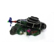 AQUARIUM DECORATION SUBMARINE WITH ROTATING PROPELLER
