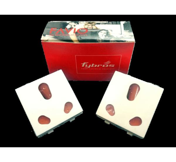 Fybros Favio 6 & 16A Universal Socket 2piece/box