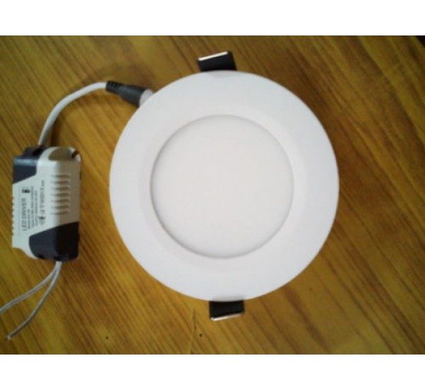 6 Watt LED Round Ceiling/POP/False Ceiling Panel Light Roof Pure white