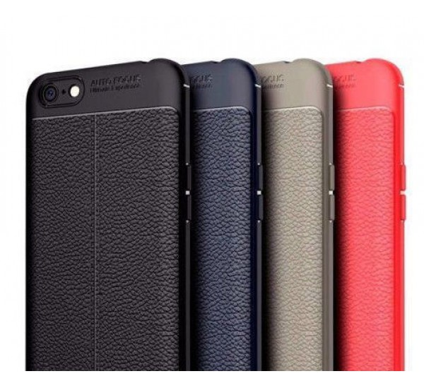 Autofocus Soft Silicone Leather Texture Back Cover Case For Xiaomi Redmi 4