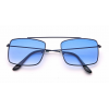JRS S20B5269 Blue Gradient Retro Square Sunglasses for Men and Women
