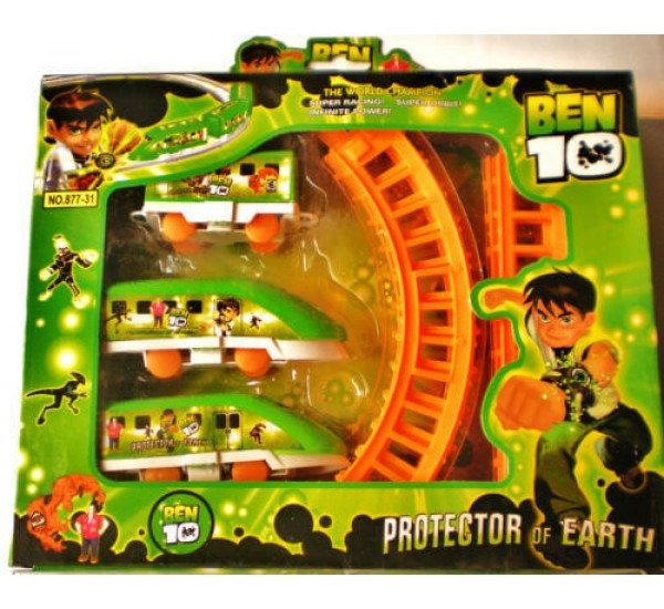 Ben 10 Train Set Track Battery Operated toy Train gift for Kids