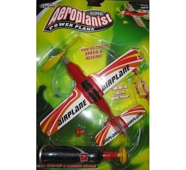 Aeroplane Battery Operated with Wire Super Aeroplanist Power Plane