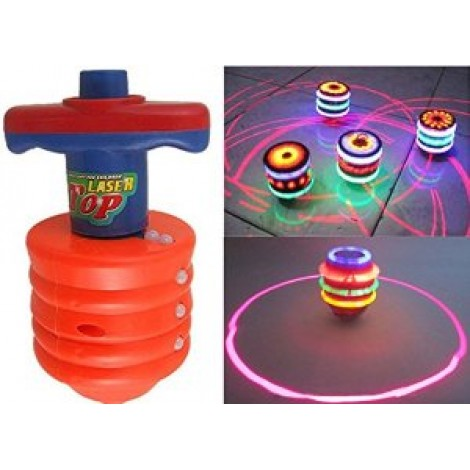 Laser Top Spinning Top with LED Light and Laser Toy